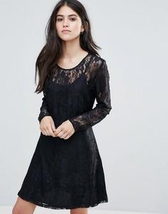 Кружевное вечернее платье Only Evania - Темно-синий