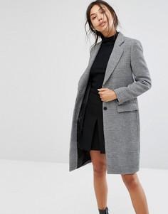Пальто в ломаную клетку Gianni Feraud - Черный
