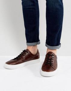 Кожаные кроссовки Vagabond Paul - Коричневый