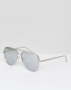 Солнцезащитные очки с серебристыми стеклами деграде Quay Australia X Desi High Key - Серебряный