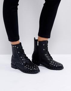 Ботинки с заклепками Boohoo - Черный