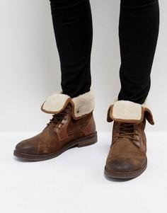 Светло-коричневые теплые ботинки из замши Steve Madden - Рыжий