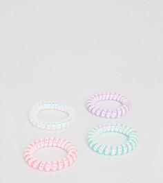 Набор из 4 радужных резинок-спиралек для волос ASOS - Мульти