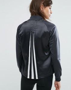 Куртка на молнии Adidas - Черный