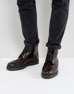 Красные кожаные ботинки-криперы Fred Perry X George Cox - Красный