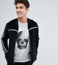 Велюровый свитер на молнии Blend - Черный