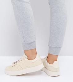 Кроссовки из нубука adidas Originals Stan Smith - Серый