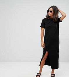Платье-футболка макси ASOS PETITE - Черный