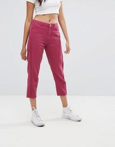 Укороченные джинсы Boohoo - Розовый