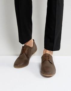 Замшевые коричневые туфли на шнуровке Pier One Punched - Коричневый