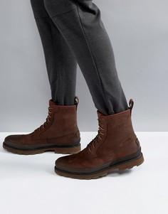 Коричневые водонепроницаемые кожаные ботинки Sorel Madson - Коричневый
