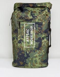 Рюкзак с подворачивающимся верхом Artsac Workshop - Зеленый