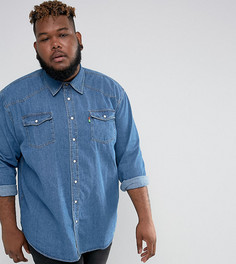 Синяя джинсовая рубашка в стиле вестерн Duke PLUS - Синий