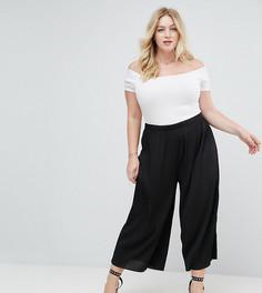 Укороченные плиссированные брюки ASOS CURVE - Черный