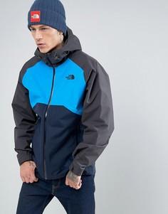 Сине-серая водонепроницаемая куртка с капюшоном The North Face Stratos - Темно-синий