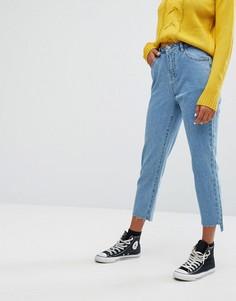 Укороченные джинсы с асимметричными краями Noisy May - Синий