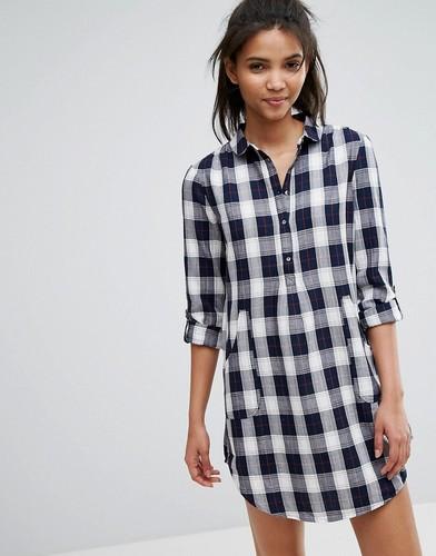 Платье-рубашка в клетку ESPRIT - Мульти