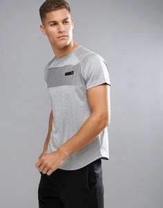 Серая футболка с логотипом на спине Ellesse Sport - Серый