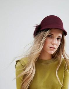 Фетровая шляпа с помпоном из искусственного меха Ted Baker - Красный