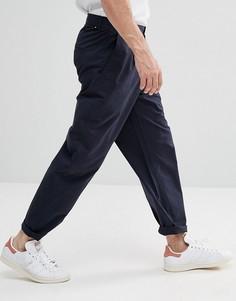 Суженные книзу брюки с укороченными штанинами Selected Homme - Темно-синий