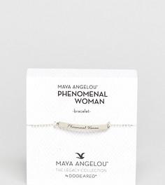 Серебряный браслет с гравировкой Dogeared Maya Angelou Phenomenal Women - Золотой