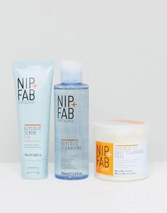 Набор очищающих средств с гликолевой кислотой NIP+FAB - Скидка 24 - Мульти