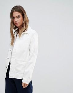 Джинсовая куртка в стиле вестерн Bethnals Alfie - Кремовый