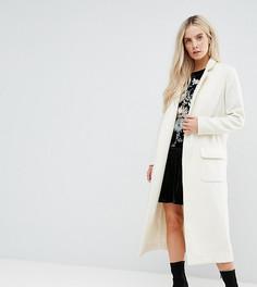 Свободное пальто-кокон Glamorous Petite - Кремовый