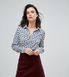 Свободная блузка с цветочным принтом Glamorous Tall - Черный