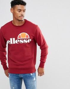 Бордовый свитшот с логотипом Ellesse - Красный