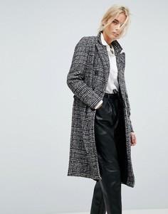 Пальто в клетку Vero Moda - Черный