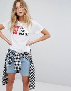 Белая футболка с логотипом Vans Off The Wall - Белый