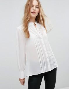 Рубашка с кружевной отделкой New Look - Белый