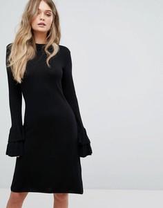 Трикотажное платье с оборками Y.A.S - Черный