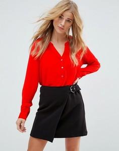 Блузка на пуговицах с длинными рукавами JDY - Красный