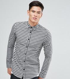 Приталенная рубашка в клеточку Only & Sons - Бежевый