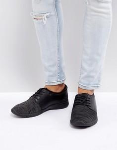 Черные трикотажные кроссовки для бега New Look - Черный