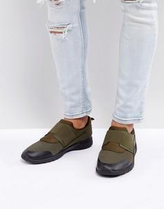 Кроссовки для бега цвета хаки с эластичным ремешком New Look - Зеленый