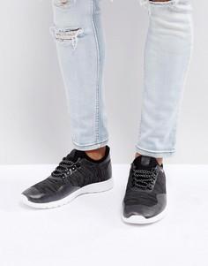 Черные фактурные кроссовки New Look - Черный