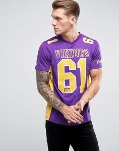 Сетчатая футболка Majestic NFL Minnesota Vikings - Фиолетовый