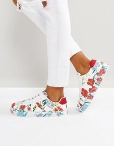 Кроссовки с цветочным принтом New Look - Белый