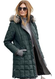 Стеганое пальто