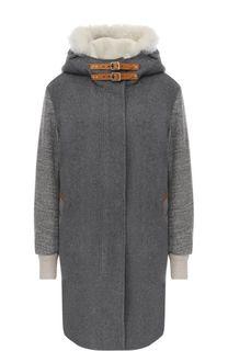 Шерстяное пальто прямого кроя с капюшоном Rag&Bone Rag&Bone