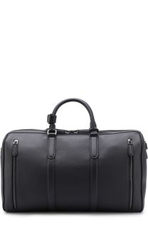 Кожаная дорожная сумка с плечевым ремнем Ermenegildo Zegna