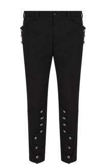 Укороченные хлопковые брюки с отделкой Dolce & Gabbana