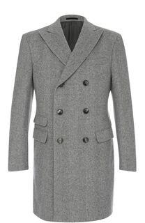 Двубортное шерстяное пальто с остроконечными лацканами Z Zegna