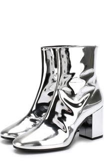 Ботильоны из металлизированной кожи на устойчивом каблуке Balenciaga