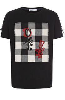 Хлопковая футболка с отделкой J.W. Anderson
