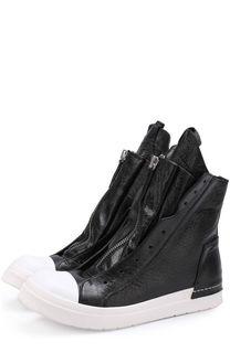Высокие кожаные кеды без шнуровки на молнии Cinzia Araia