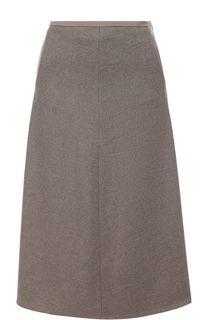 Кашемировая юбка-миди с карманами Loro Piana